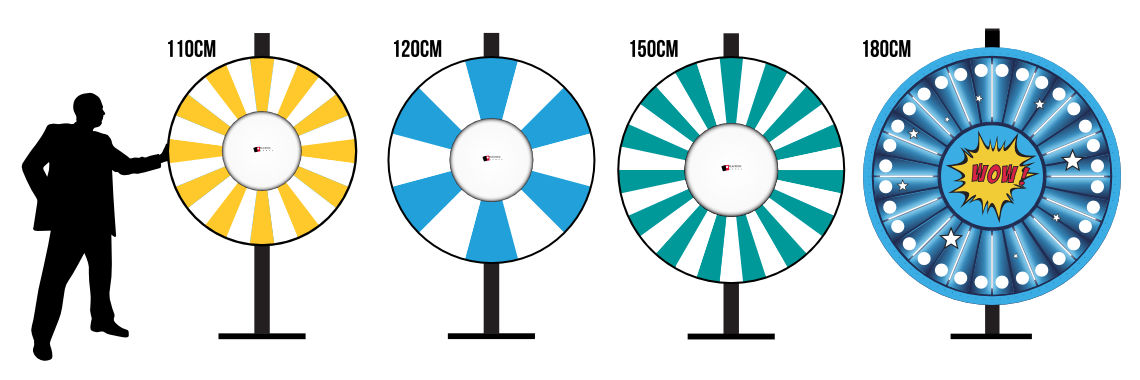 Prize Wheels 110cm to 150cm